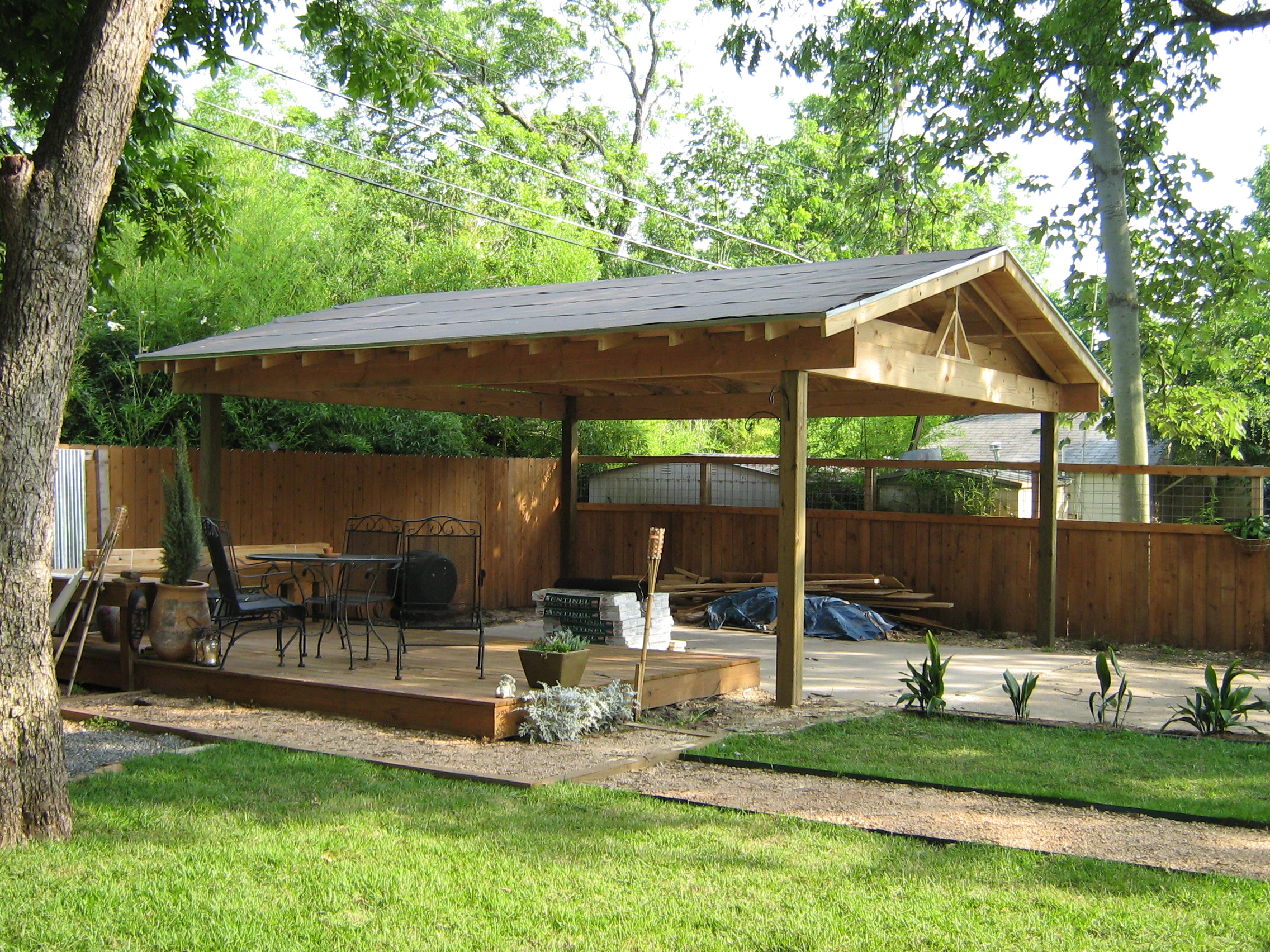 diy wood carport